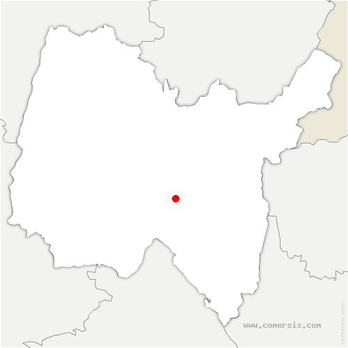 carte de localisation de Abergement-de-Varey