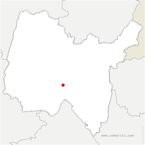 carte de localisation de Ambérieu-en-Bugey