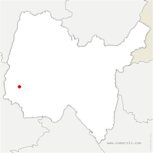carte de localisation de Ambérieux-en-Dombes