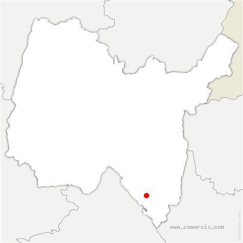 carte de localisation de Ambléon
