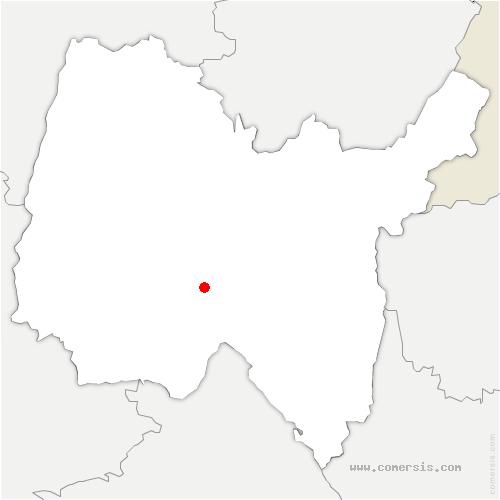 carte de localisation de Ambronay