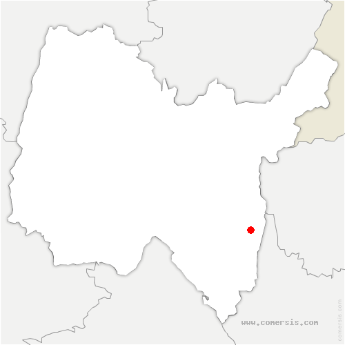 carte de localisation de Anglefort