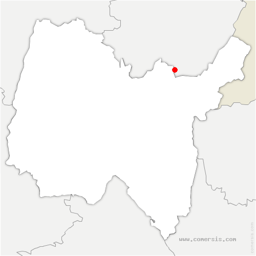 carte de localisation de Arbent