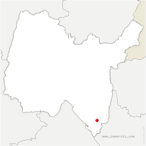carte de localisation de Arboys-en-Bugey