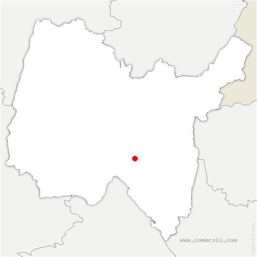 carte de localisation de Argis