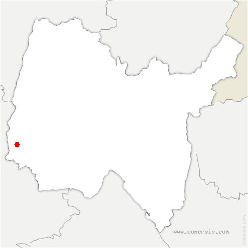 carte de localisation de Ars-sur-Formans