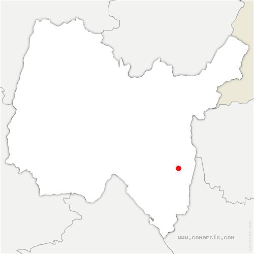 carte de localisation de Arvière-en-Valromey