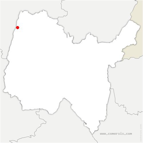 carte de localisation de Asnières-sur-Saône