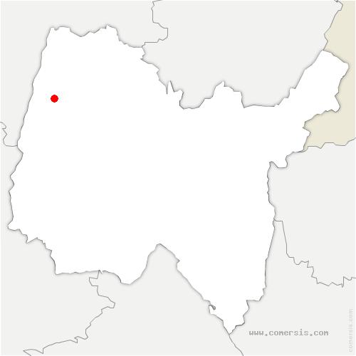 carte de localisation de Bâgé-le-Châtel