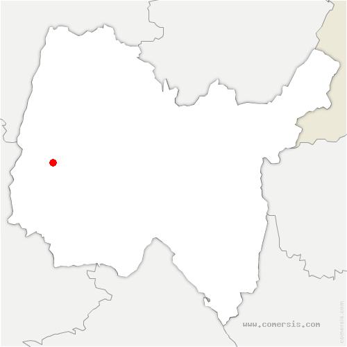 carte de localisation de Baneins