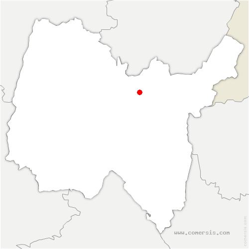 carte de localisation de Béard-Géovreissiat