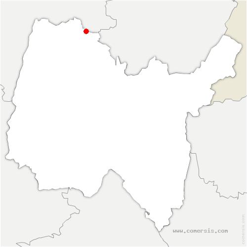 carte de localisation de Beaupont