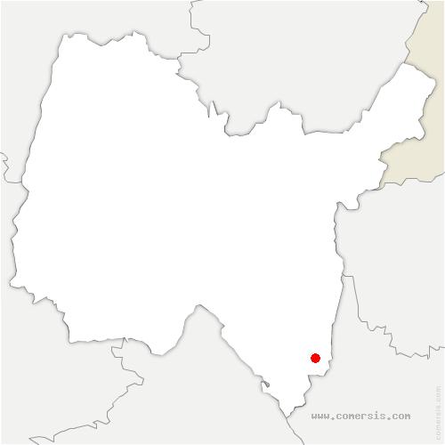 carte de localisation de Belley