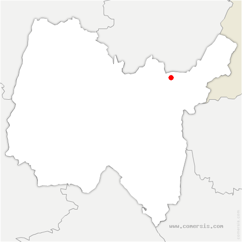 carte de localisation de Belleydoux