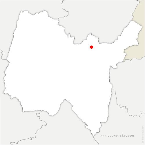 carte de localisation de Bellignat