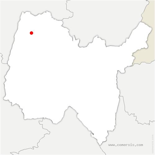 carte de localisation de Béréziat