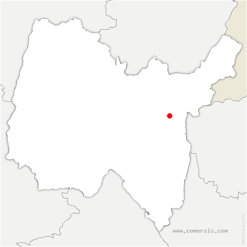 carte de localisation de Billiat