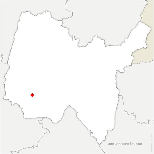 carte de localisation de Birieux