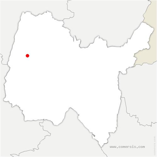 carte de localisation de Biziat