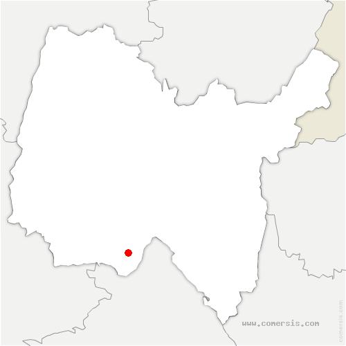 carte de localisation de Blyes