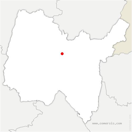 carte de localisation de Bohas-Meyriat-Rignat