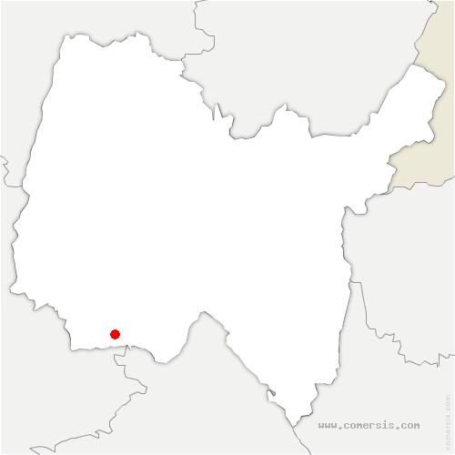 carte de localisation de Boisse