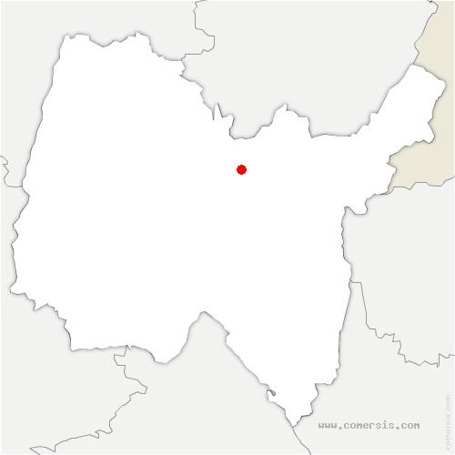 carte de localisation de Bolozon