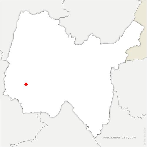carte de localisation de Bouligneux