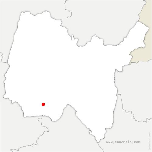 carte de localisation de Bourg-Saint-Christophe
