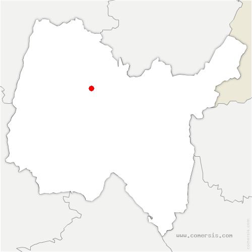 carte de localisation de Bourg-en-Bresse