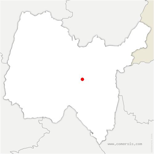 carte de localisation de Boyeux-Saint-Jérôme