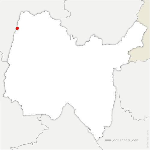carte de localisation de Boz