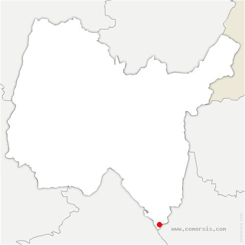 carte de localisation de Brégnier-Cordon