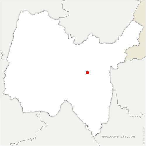 carte de localisation de Brénod