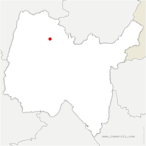 carte de localisation de Bresse Vallons