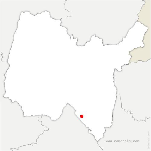 carte de localisation de Briord