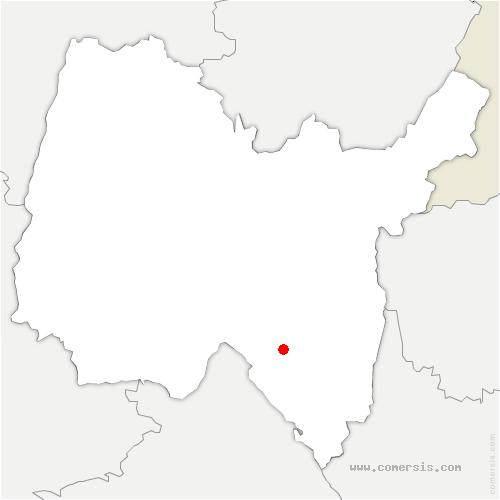 carte de localisation de Burbanche