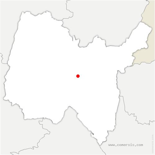 carte de localisation de Cerdon