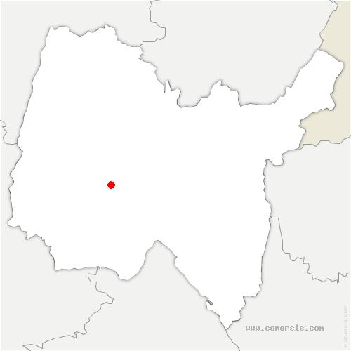 carte de localisation de Chalamont