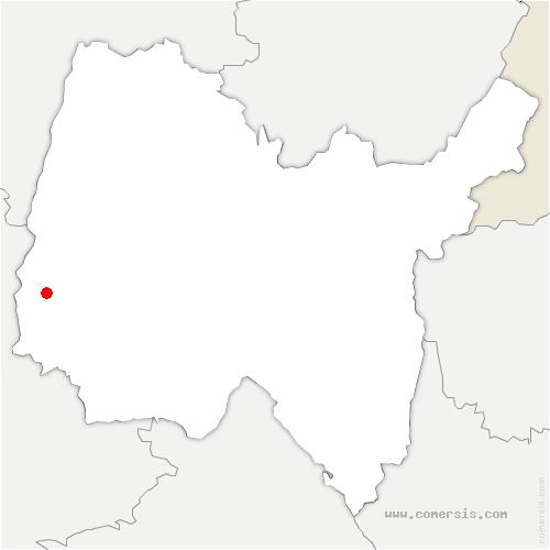 carte de localisation de Chaleins