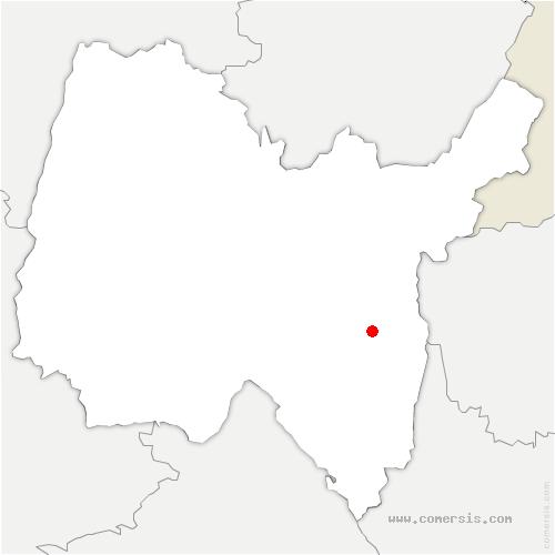 carte de localisation de Champagne-en-Valromey