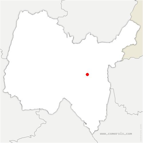 carte de localisation de Champdor-Corcelles