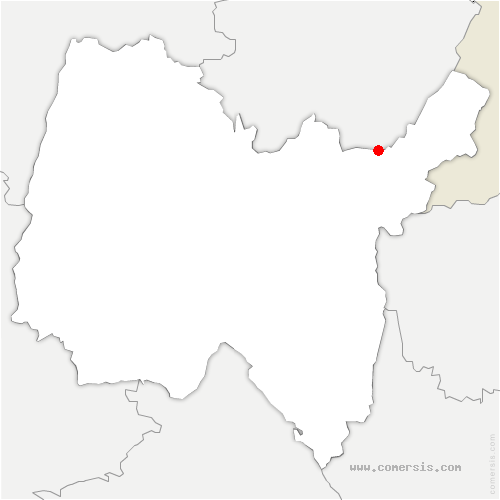 carte de localisation de Champfromier
