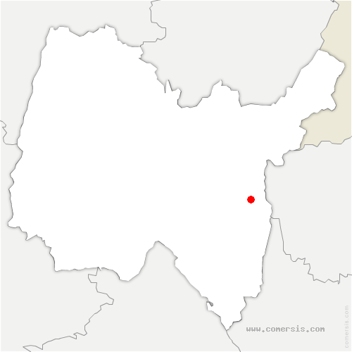carte de localisation de Chanay