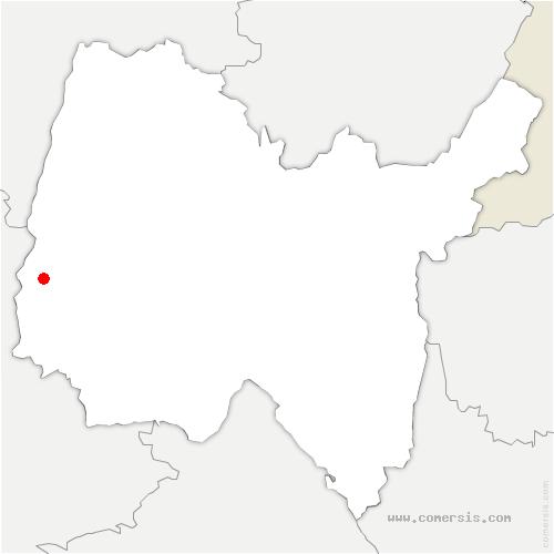 carte de localisation de Chaneins