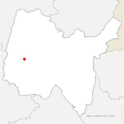 carte de localisation de Chapelle-du-Châtelard
