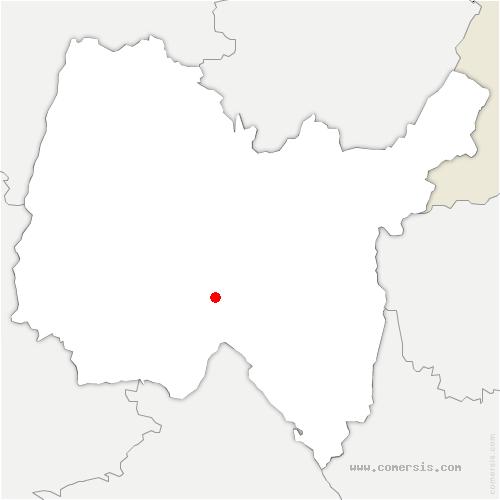 carte de localisation de Château-Gaillard