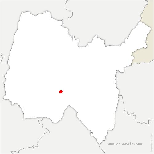 carte de localisation de Châtillon-la-Palud
