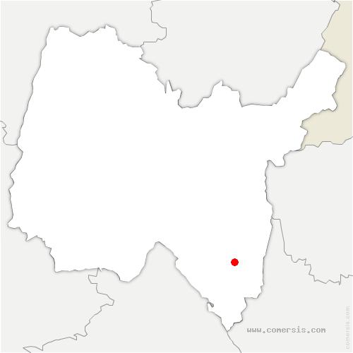 carte de localisation de Chazey-Bons