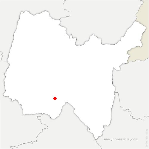 carte de localisation de Chazey-sur-Ain